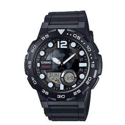 Mens Black Analog Digital Watch - AEQ100W-1BV