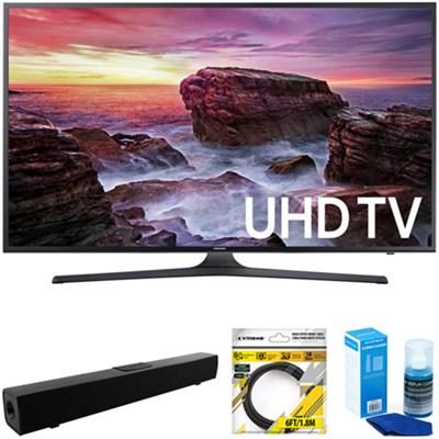 Flat 39.9` LED 4K UHD 6 Series Smart TV 2017 Model + Soundbar Bundles