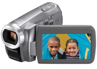 SDR-S7S SD Camcorder w/ 10x Optical Zoom (Silver) - OPEN BOX