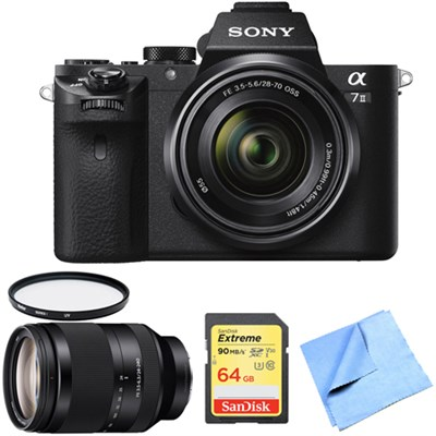 Alpha 7II Mirrorless Interchangeable Lens Camera 24-240mm Zoom Lens Bundle