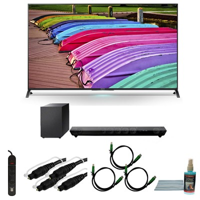 XBR55X850B - 55-Inch X850B 3D 4K Ultra HD TV Motionflow XR 240 Smart HDTV Bundle