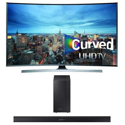 UN65JU7500 - 65-Inch 2160p 3D Curved 4K UHD Smart TV HW-J450 Soundbar Bundle