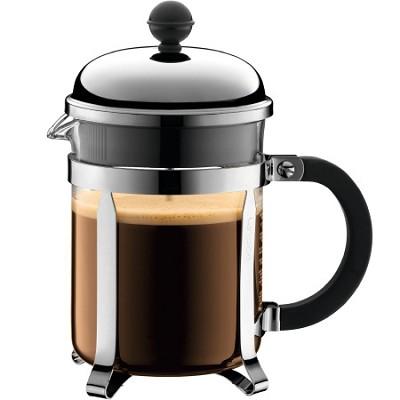 Chambord 4 cup 17 oz. French Press Coffee Maker - Chrome - OPEN BOX