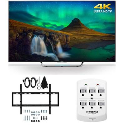 XBR-55X850C - 55-Inch 3D 4K Ultra HD Smart LED HDTV Slim Flat Wall Mount Bundle