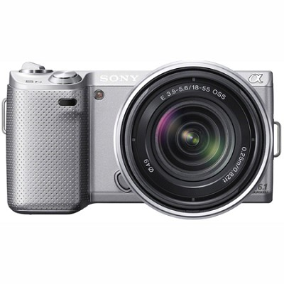 NEX-5N 16 Megapixel Compact Interchangeable Lens Camera w/ 18-55mm Lens (Silver)