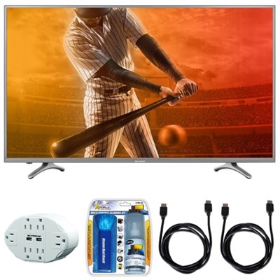 Aquos N5000 FHD 50` Class 1080p 60Hz WiFi Smart LED TV w/ Hook up Bundle
