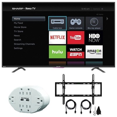N4000 FHD 50` Class WiFi Roku 60Hz LED Smart TV 50N4000U with Mount Bundle