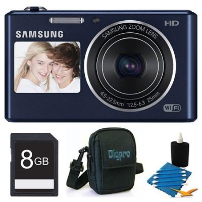 DV150F Dual-View 16.2 MP Smart Camera with Built-in Wi-Fi Black 8GB Kit