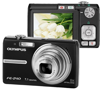 FE-240 (Black) Digital Camera