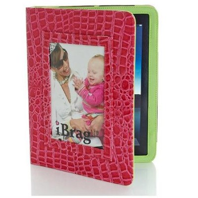 Wet Croco iBrag iPad Case (Pink/Kiwi)