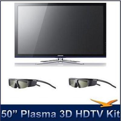 PN50C490 - 50` 3D Plasma HDTV Kit w/ 2 FREE 3D Glasses