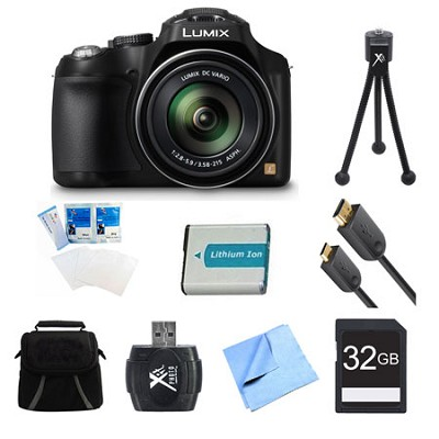 LUMIX DMC-FZ70 16.1 MP Digital Camera 32GB Bundle
