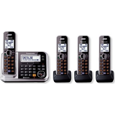 KXTG7874S DECT 6.0 4-Handset High Quality Phone System with Answering Capability