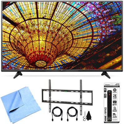 65UF6450 - 65-Inch 2160p 4K Ultra HD Smart LED TV Flat Wall Mount Bundle
