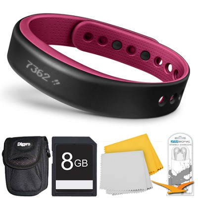 vivosmart Bluetooth Fitness Band Activity Tracker - Large - Berry Deluxe Bundle
