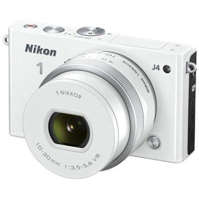 1 J4 Mirrorless 18.4MP Digital Camera w/ 10-30mm Lens White Factory Refurbished