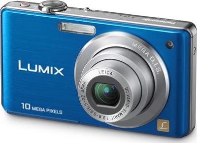 DMC-FS7A LUMIX 10.1 MP Compact Digital Camera (Blue) - OPEN BOX