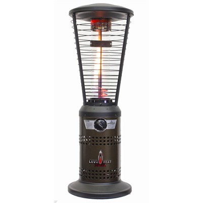 10,000 BTU Mini Ember Tabletop Liquid Propane Gas Patio Heater - Bronze