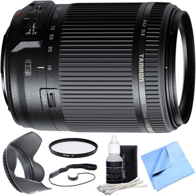 18-200mm Di II VC All-In-One Zoom Lens for Canon Mount w/ Filter + Hood Bundle