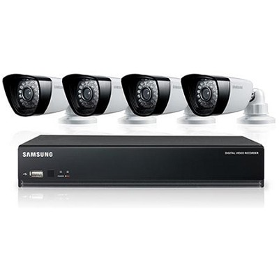 4CH 4 IP66 600TVL Cameras DVR Security System with 500GB HDD