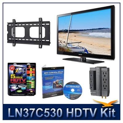 LN37C530 - HDTV + Hook-up Kit + Power Protection + Calibration + Flat Mount