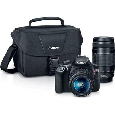 EOS Rebel T6 DSLR Camera w/ 18-55mm IS II + 75-300mm III Double Zoom Kit
