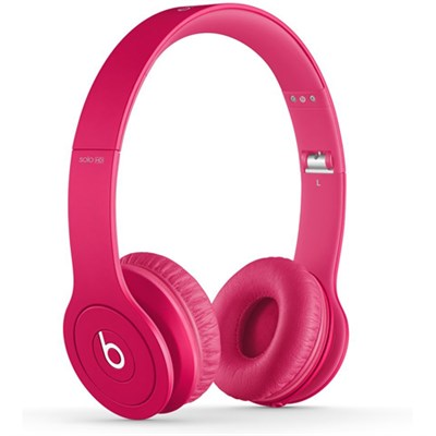 Solo HD On-Ear Headphones with Built-in Mic (Matte Pink) - OPEN BOX