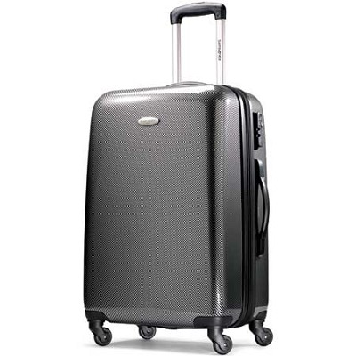 Winfield Fashion Lightweight 24` Hardside Spinner Luggage - Black/Silver