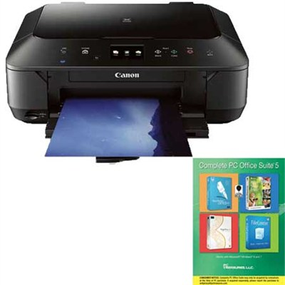 Pixma MG6620 Wireless Color Photo All-in-One Inkjet Printer (Black) +Corel Suite