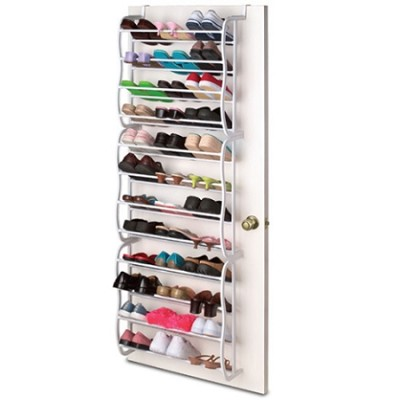 Over-the-Door Shoe Rack with Capacity for 36 Pairs of Shoes