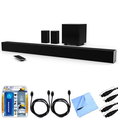SB3851-D0 SmartCast 38` 5.1 Sound Bar System w/ Essential Accessory Bundle
