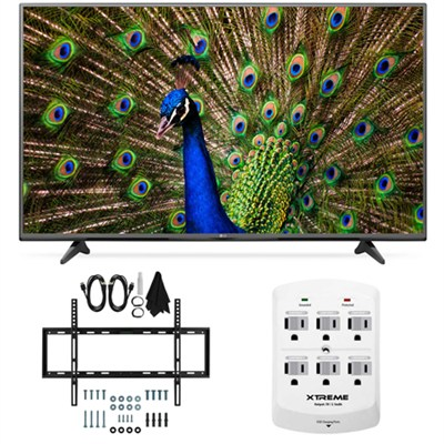 55UF6800 - 55-Inch 120Hz 4K Ultra HD Smart LED TV Slim Flat Wall Mount Bundle