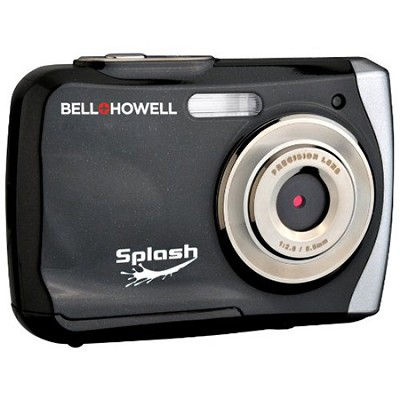 Splash 12MP Waterproof Digital Camera, Anti-Shake (Black)