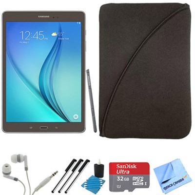Galaxy Tab A 9.7-Inch W-Fi Tablet (Titanium with S-Pen) 32GB Memory Card Bundle