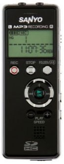 Digital Stereo MP3 Voice Recorder w/expandable SD card memory slot