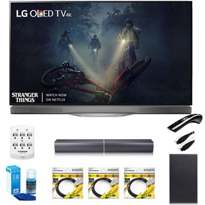 55` E7 OLED 4K HDR Smart TV OLED55E7P w/LG SJ7 Wireless Sound Bar Bundle