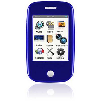 E6 Series - 4GB MP3 Video Player w/ 3` Touchscreen, Camera w/ Video - Blue