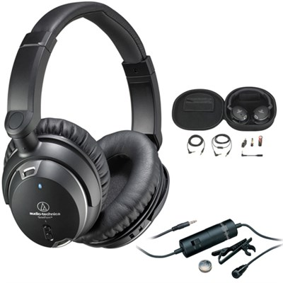 QuietPoint Noise-Cancelling Headphones - ATHANC9 with Audio-Technica Microphone