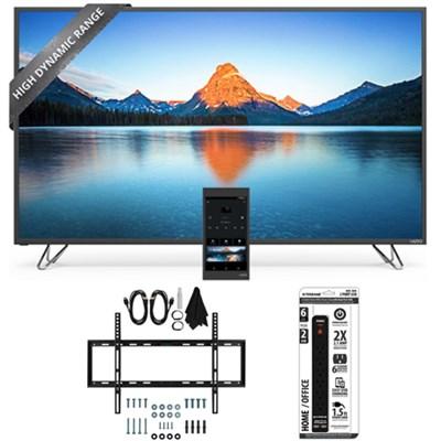 M50-D1 - 50-Inch 4K SmartCast HDR Ultra HD TV Slim Flat Wall Mount Bundle