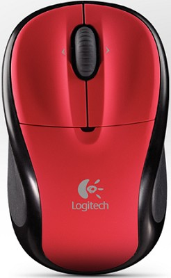 V220 Cordless Optical Mouse for Notebooks (Scarlet Red)