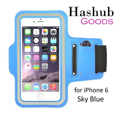 Sports Running Armband for iPhone 6/Galaxy Alpha/Sony Z3/Moto X in Sky Blue