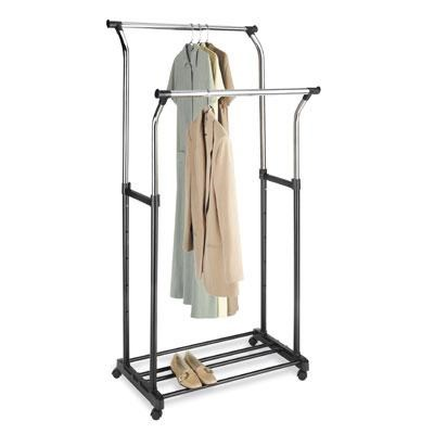 Double Adjustable Garment Rack - 6021-368