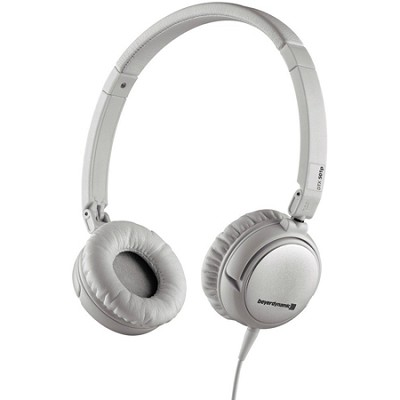 Lightweight Portable Headphone with Carry Case for Mobile Use (White) - DTX 501p