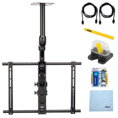 Ceiling Mount for 37`- 70` Flat Panel TVs w/ Accessory Bundle