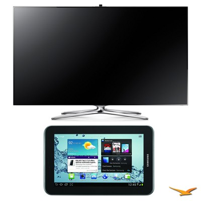 UN55F7500 55` 1080p 240hz 3D LED Smart HDTV and Galaxy Tab 2 Bundle