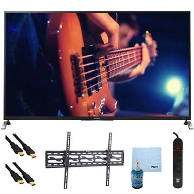 65` Smart 3D LED HDTV Motionflow XR 480 Tilt Mount & Hook-Up Bundle - KDL65W950B