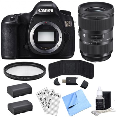 EOS 5DS 50.6MP Digital SLR Camera (Body Only) & Sigma 24-35mm Lens Power Bundle