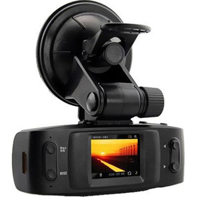 GPS 1080P DVR Dash Cam - Black