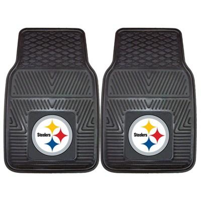 NFL Pittsburgh Steelers Vinyl Heavy Duty Car Mat - Set of Two