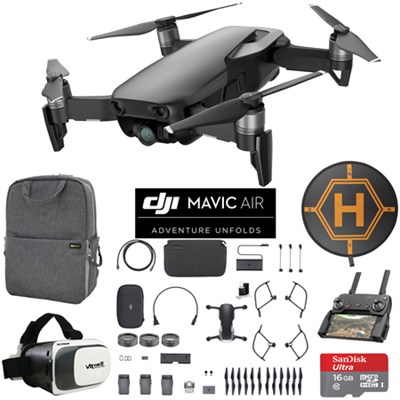 Mavic Air Fly More Combo Onyx Black Drone Mobile Go Pack VR Goggles Landing Pad